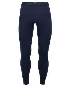 Icebreaker Mens Bodyfit Merino Oasis Thermal Leggings, Midnight Navy / Monsoon